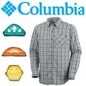 Columbia Men's Insect Blocker Plaid Long Sleeve Shirt