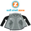 Soft Shell Zone: een combinatie van soft shell en strategisch geplaatst fleece