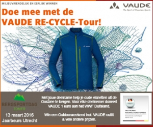 VAUDE Re-Cycle Tour 2016 OP NKBV Bergsportdag