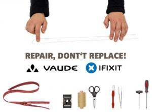 VAUDE werkt samen met internationaal reparatieplatform iFixit om repareren te promoten